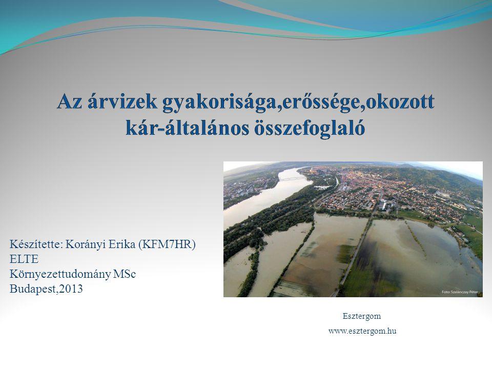 Készítette: Korányi Erika (KFM7HR) ELTE Környezettudomány MSc Budapest,2013 Esztergom www.esztergom.hu