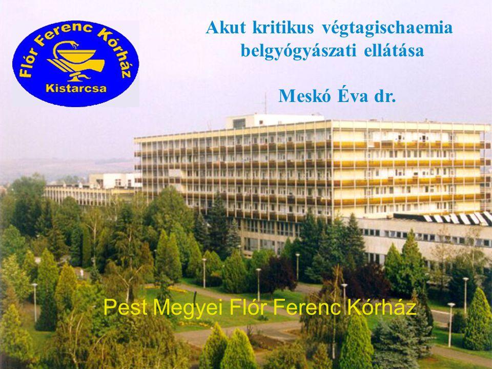 Meskó Éva dr.Akut kritikus végtagischaemia belgyógyászati ellátása Meskó Éva dr.