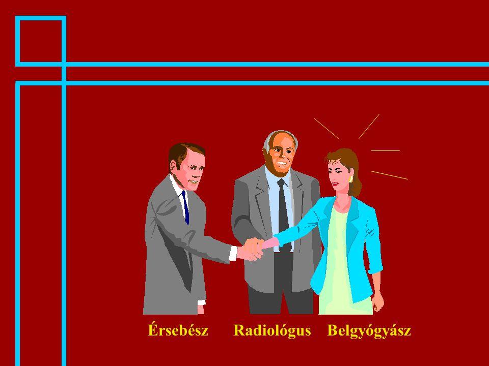 RadiológusÉrsebészBelgyógyász