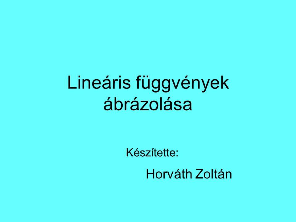 Lineáris függvények ábrázolása Készítette: Horváth Zoltán