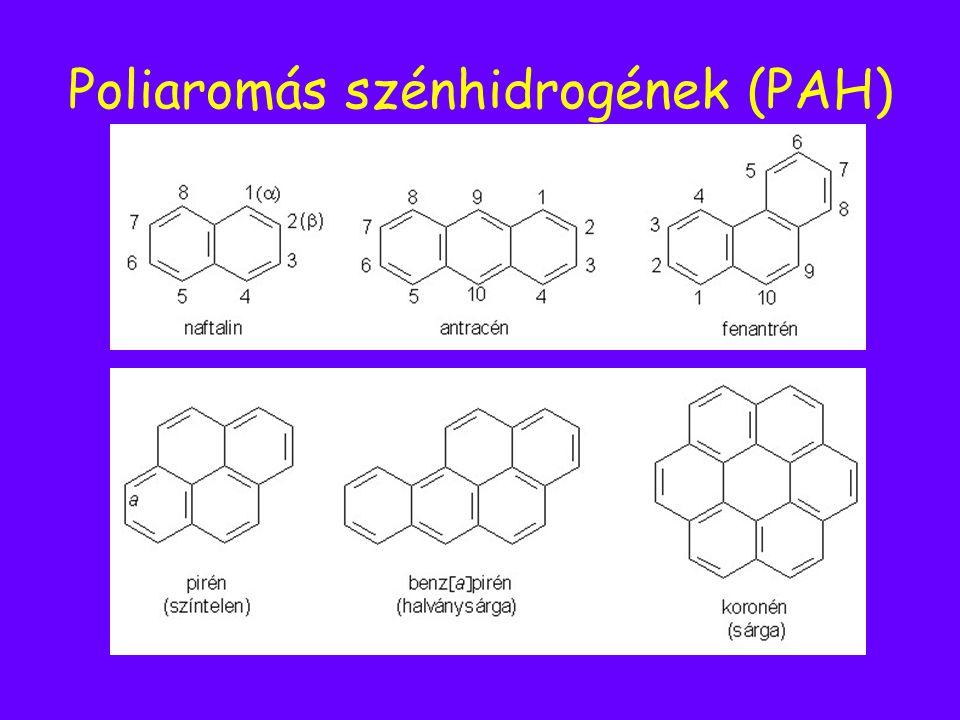 Poliaromás szénhidrogének (PAH)
