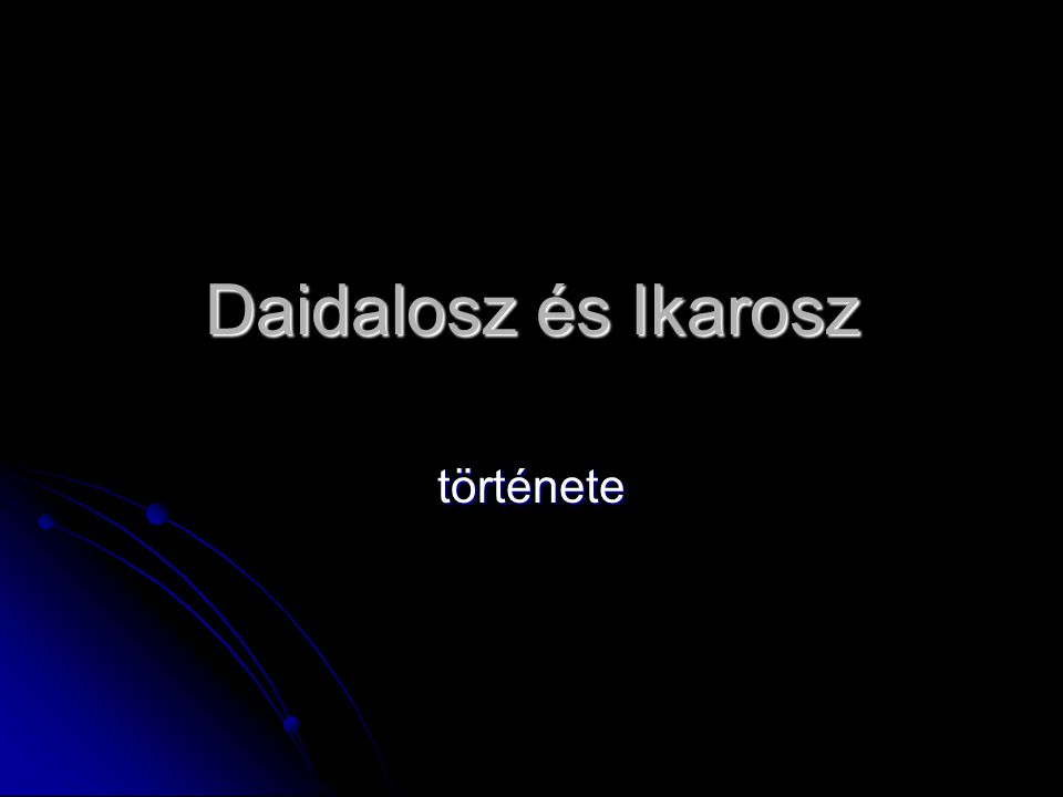 Daidalosz és Ikarosz története