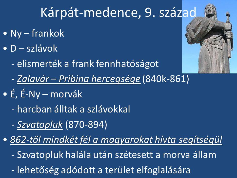 Honfoglalás (896-901) 894-ben a magyarok VI.