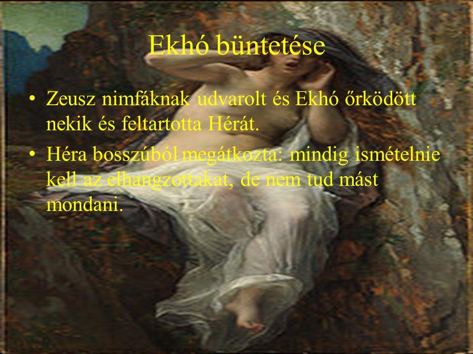 A találkozás Narkisszoszból daliás legény lett és sok szép leány szeretett bele De ő a szerelmüket visszautasította és csak vadászott.