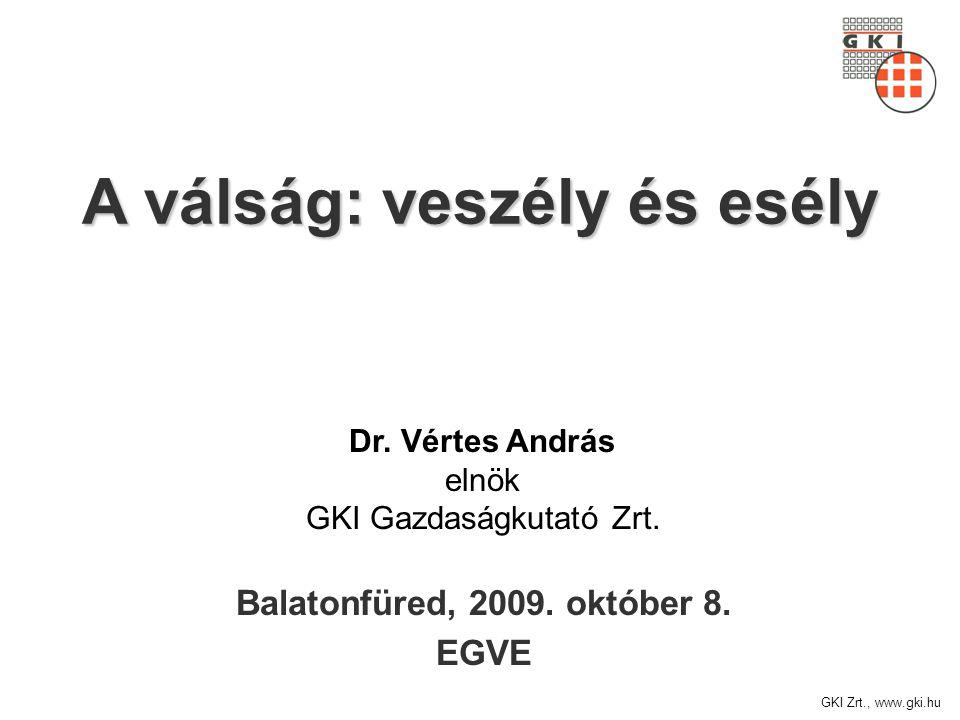 GKI Zrt., www.gki.hu A válság: veszély és esély Balatonfüred, 2009.