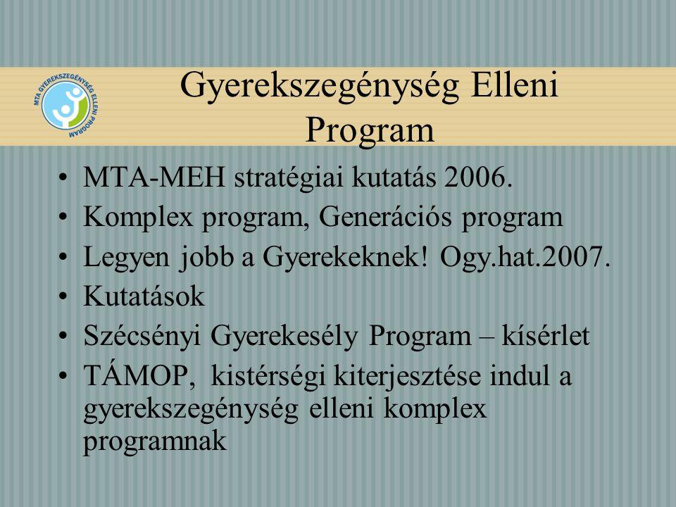 Gyerekszegénység Elleni Program MTA-MEH stratégiai kutatás 2006.