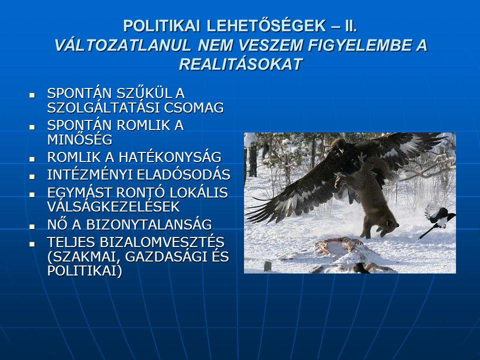 POLITIKAI LEHETŐSÉGEK – II.