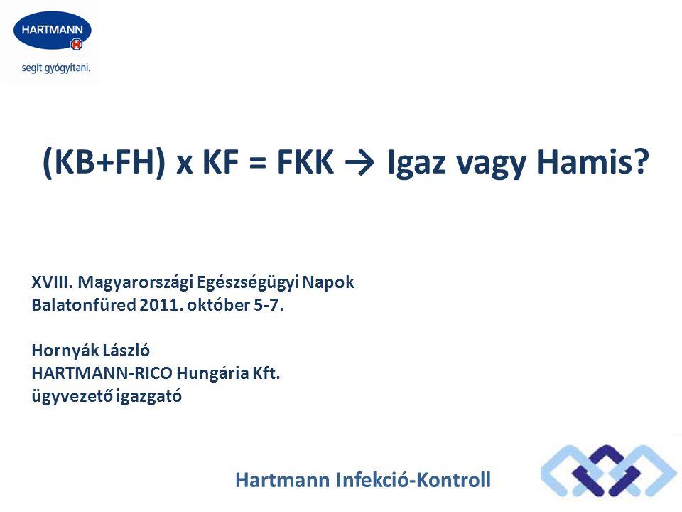 Hartmann Infekció-Kontroll (KB+FH) x KF = FKK → Igaz vagy Hamis? XVIII. Magyarországi Egészségügyi Napok Balatonfüred 2011. október 5-7. Hornyák Lászl