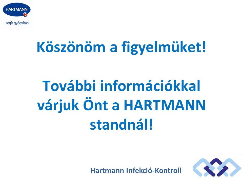 Köszönöm a figyelmüket! További információkkal várjuk Önt a HARTMANN standnál! Hartmann Infekció-Kontroll