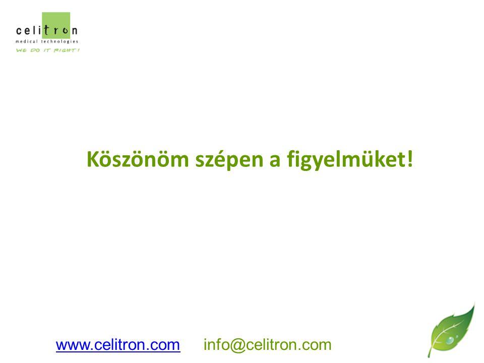 Köszönöm szépen a figyelmüket! www.celitron.comwww.celitron.com info@celitron.com