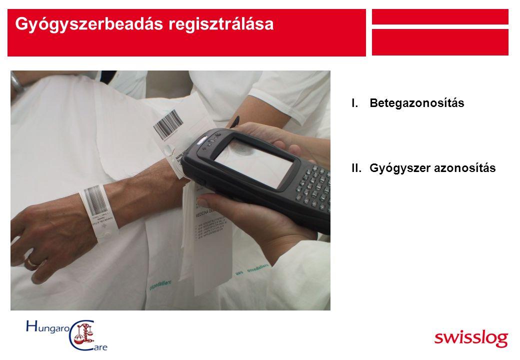 I.Betegazonosítás II.Gyógyszer azonosítás Gyógyszerbeadás regisztrálása