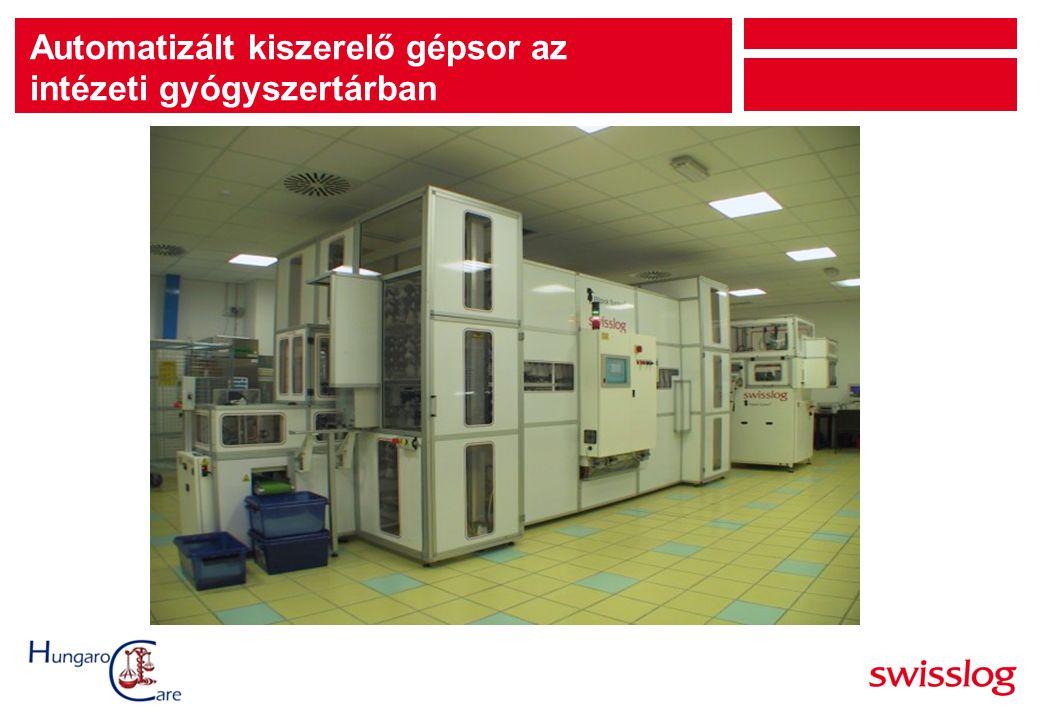 Automatizált kiszerelő gépsor az intézeti gyógyszertárban