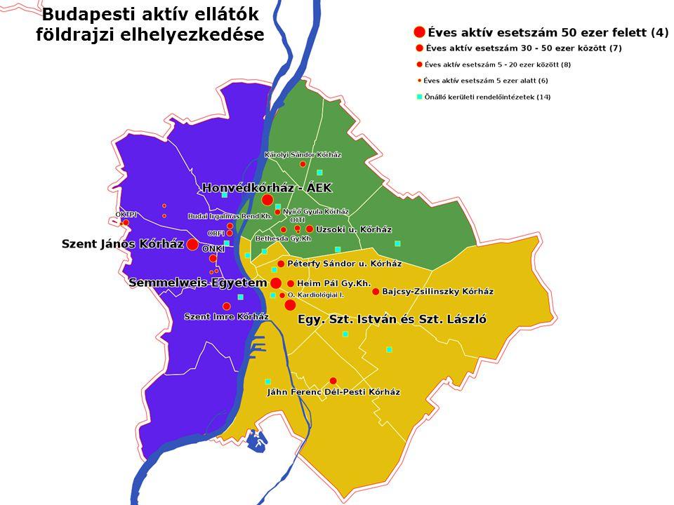 5 Budapesti aktív ellátók földrajzi elhelyezkedése