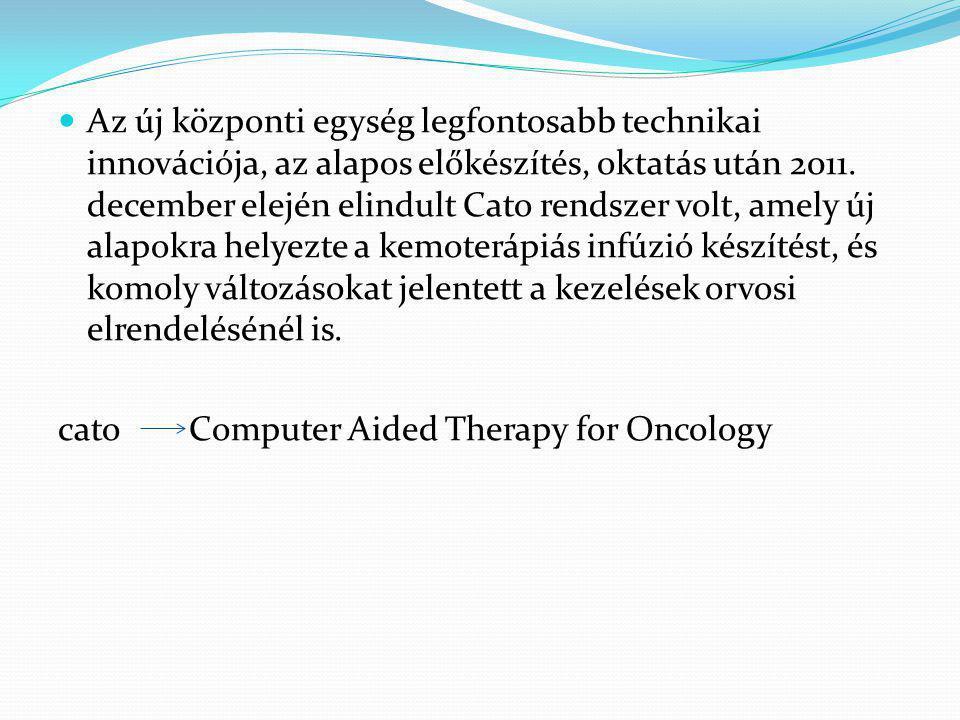 Az új központi egység legfontosabb technikai innovációja, az alapos előkészítés, oktatás után 2011.