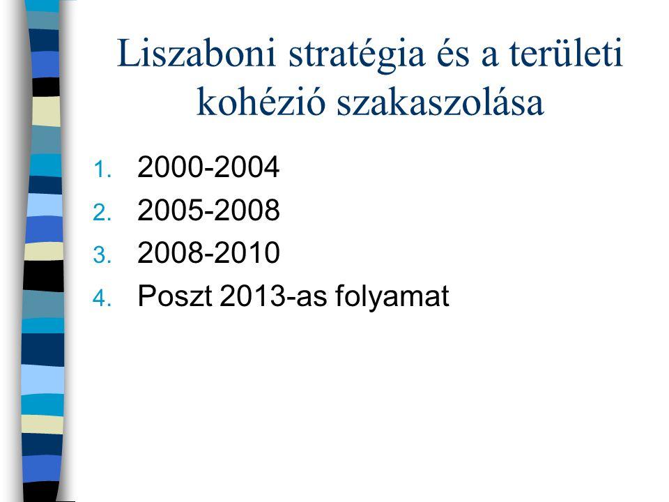 Liszaboni stratégia és a területi kohézió szakaszolása 1.