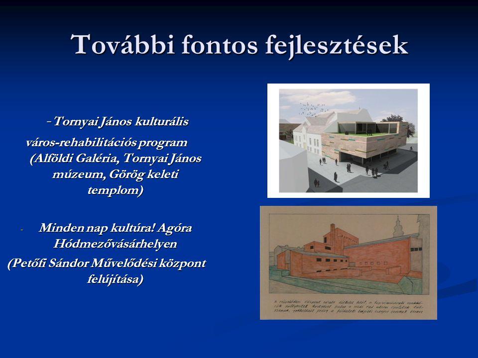 További fontos fejlesztések - Tornyai János kulturális - Tornyai János kulturális város-rehabilitációs program (Alföldi Galéria, Tornyai János múzeum,