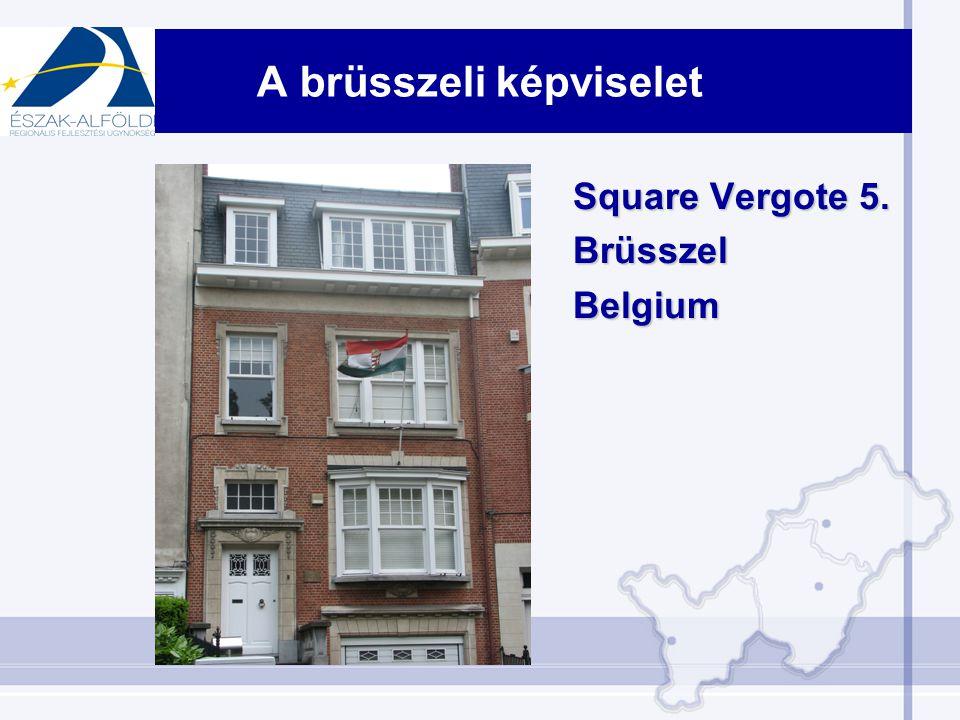 A brüsszeli képviselet Square Vergote 5. BrüsszelBelgium
