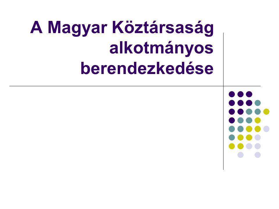 A Magyar Köztársaság alkotmányos berendezkedése