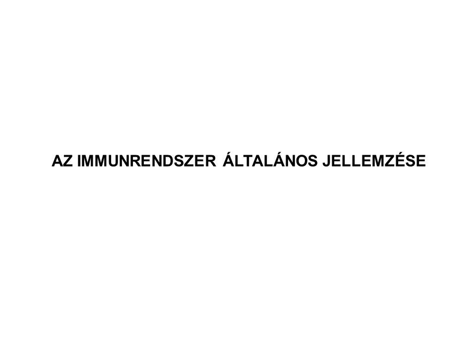 AZ IMMUNRENDSZER ÁLTALÁNOS JELLEMZÉSE