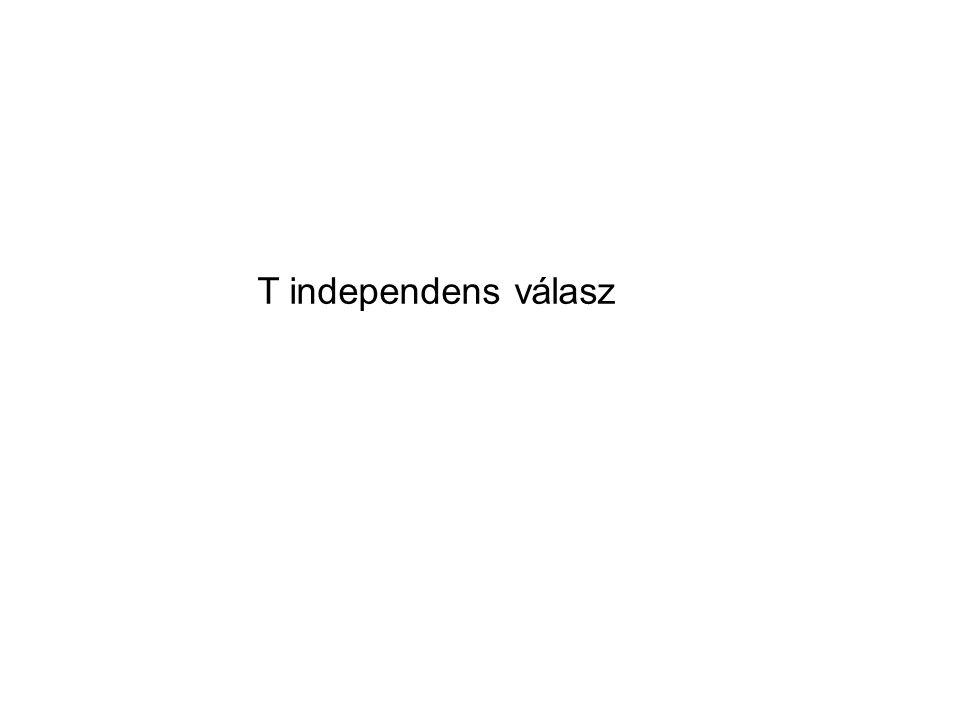 T independens válasz