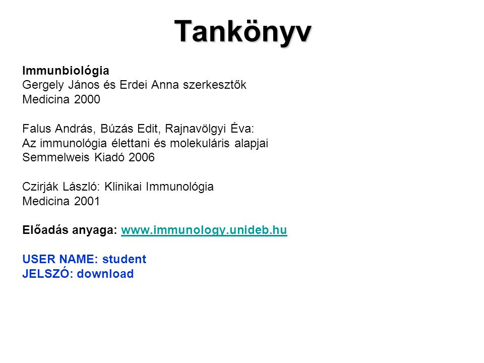 © Garland Science 2009 1 Fejezet Az immunrendszer résztvevői és szerepük a szervezet védelmében