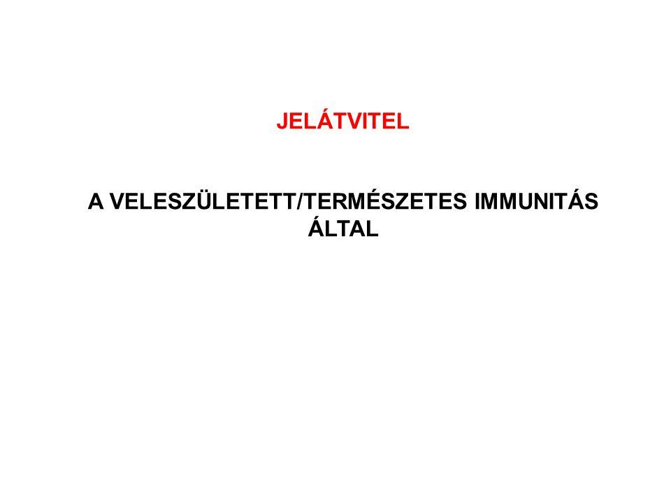 JELÁTVITEL A VELESZÜLETETT/TERMÉSZETES IMMUNITÁS ÁLTAL