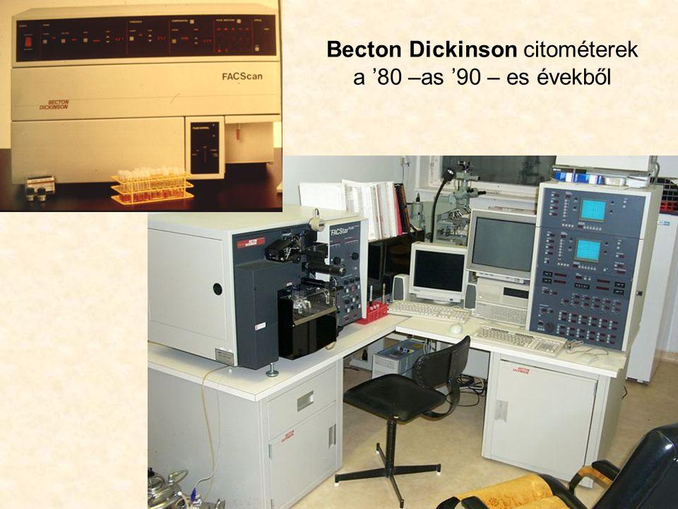Becton Dickinson citométerek a '80 –as '90 – es évekből