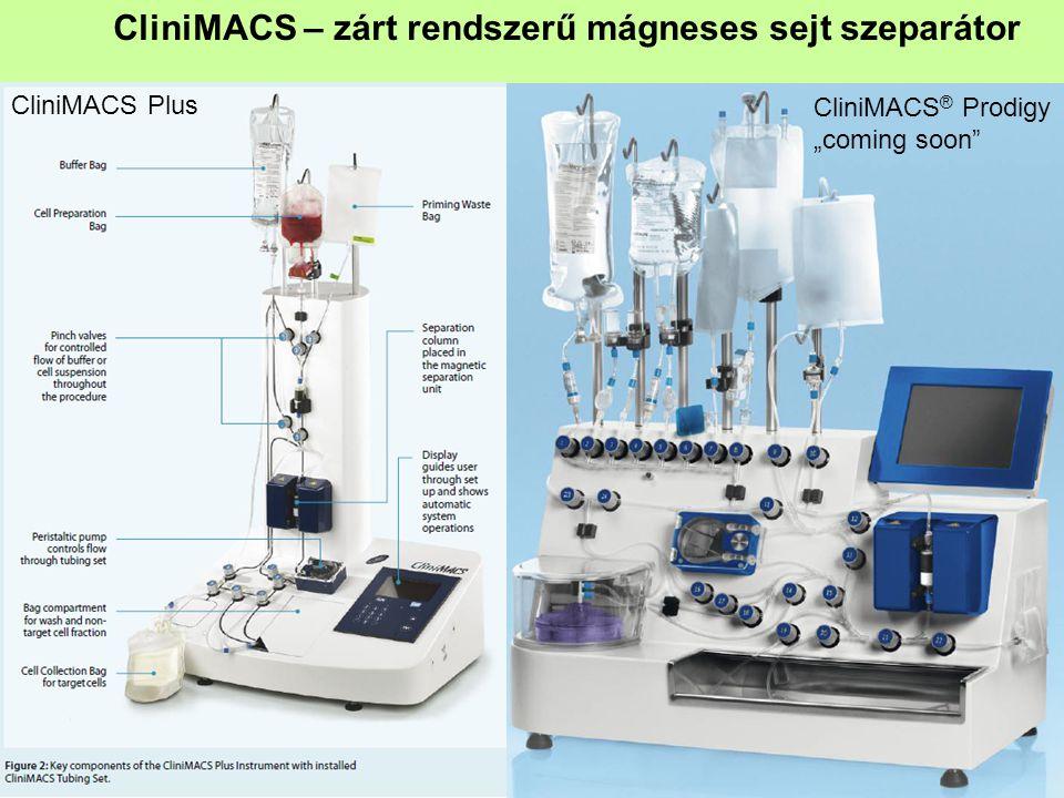 """CliniMACS – zárt rendszerű mágneses sejt szeparátor CliniMACS ® Prodigy """"coming soon CliniMACS Plus"""
