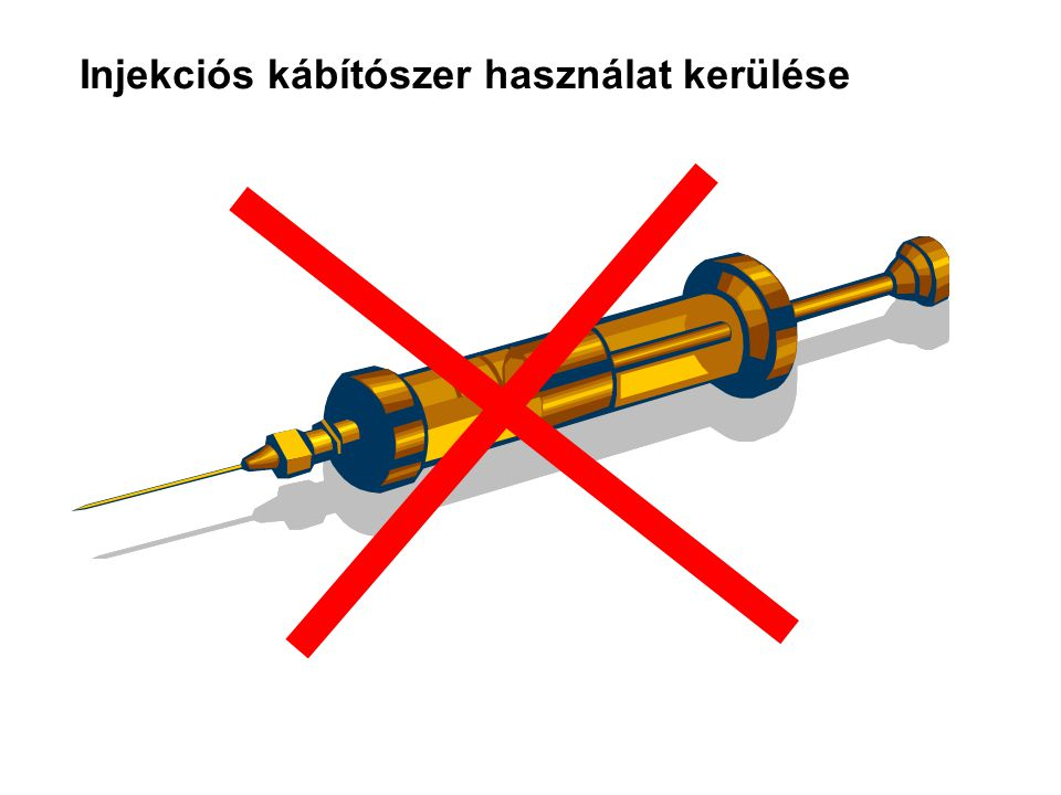 Injekciós kábítószer használat kerülése
