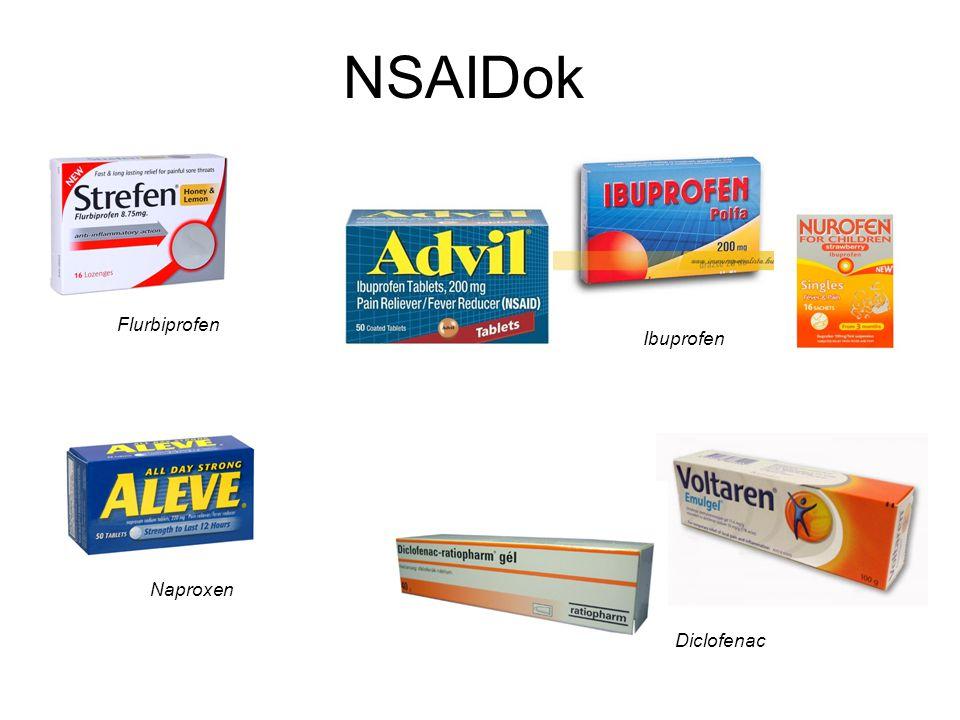 NSAIDok Flurbiprofen Ibuprofen Naproxen Diclofenac