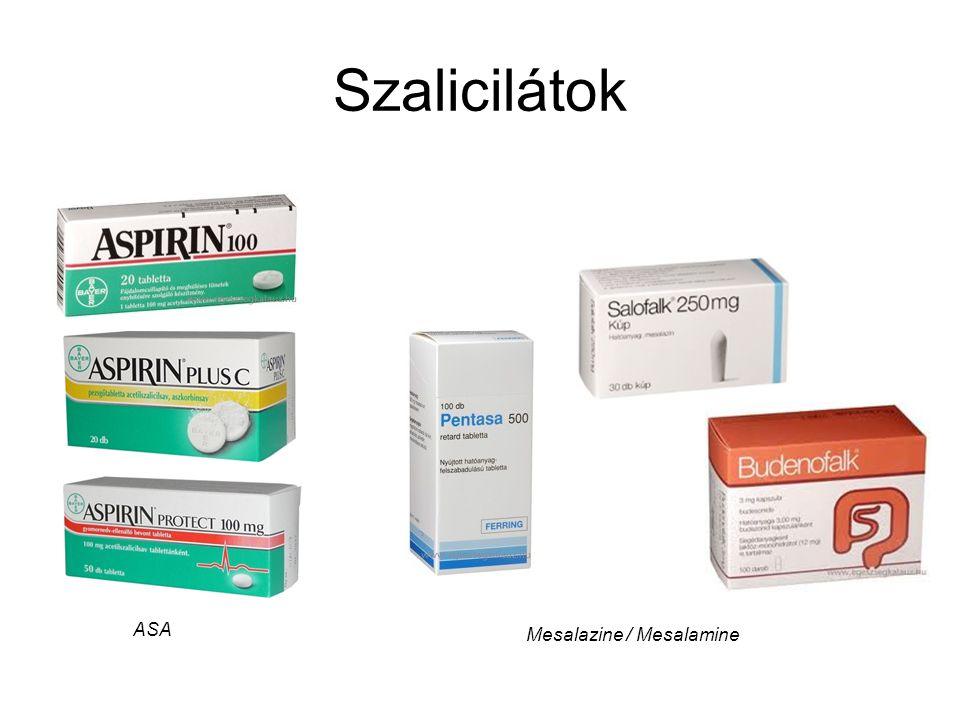 Szalicilátok Mesalazine / Mesalamine ASA
