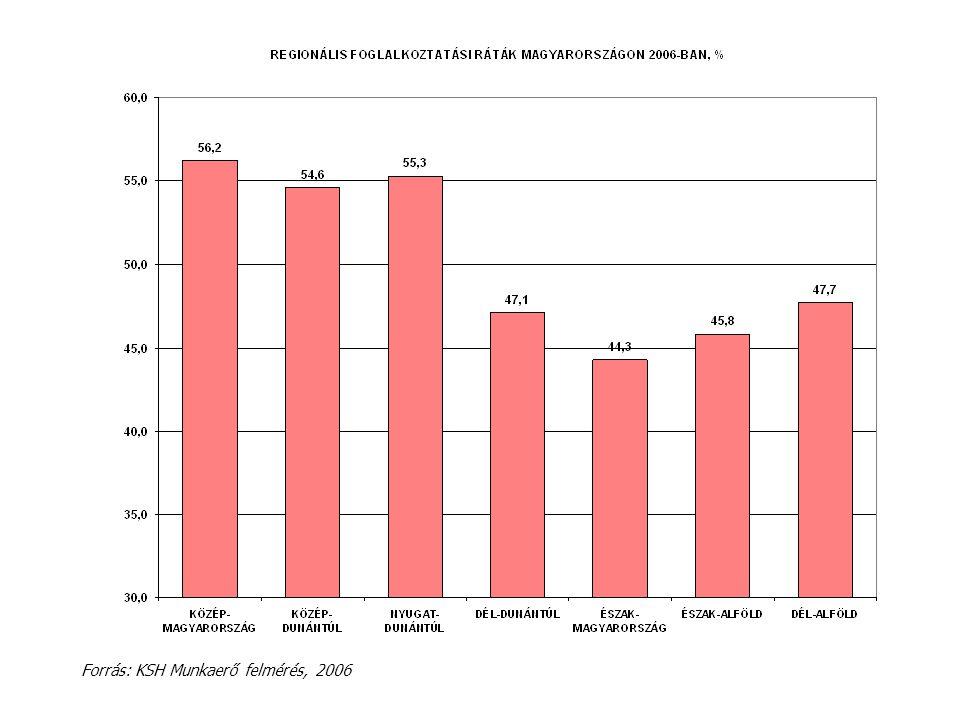 Forrás: KSH Munkaerő felmérés, 2006