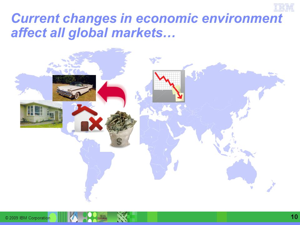 © 2009 IBM Corporation Information Management software | Enterprise Content Management 10 Current changes in economic environment affect all global markets…
