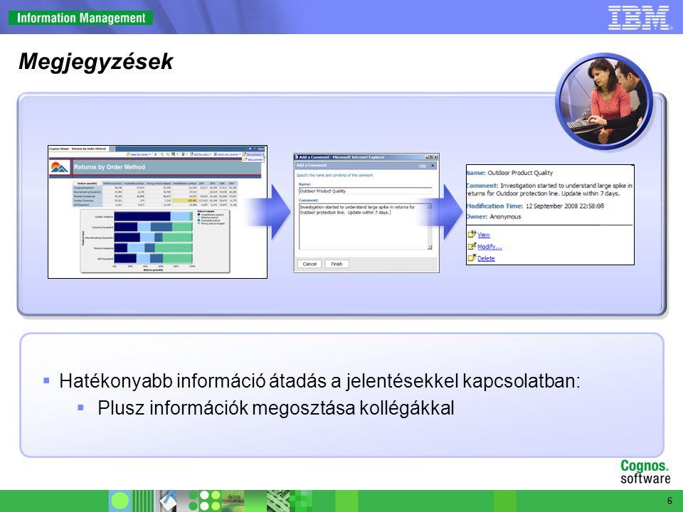 Still need graphic  Hatékonyabb információ átadás a jelentésekkel kapcsolatban:  Plusz információk megosztása kollégákkal 6 Megjegyzések