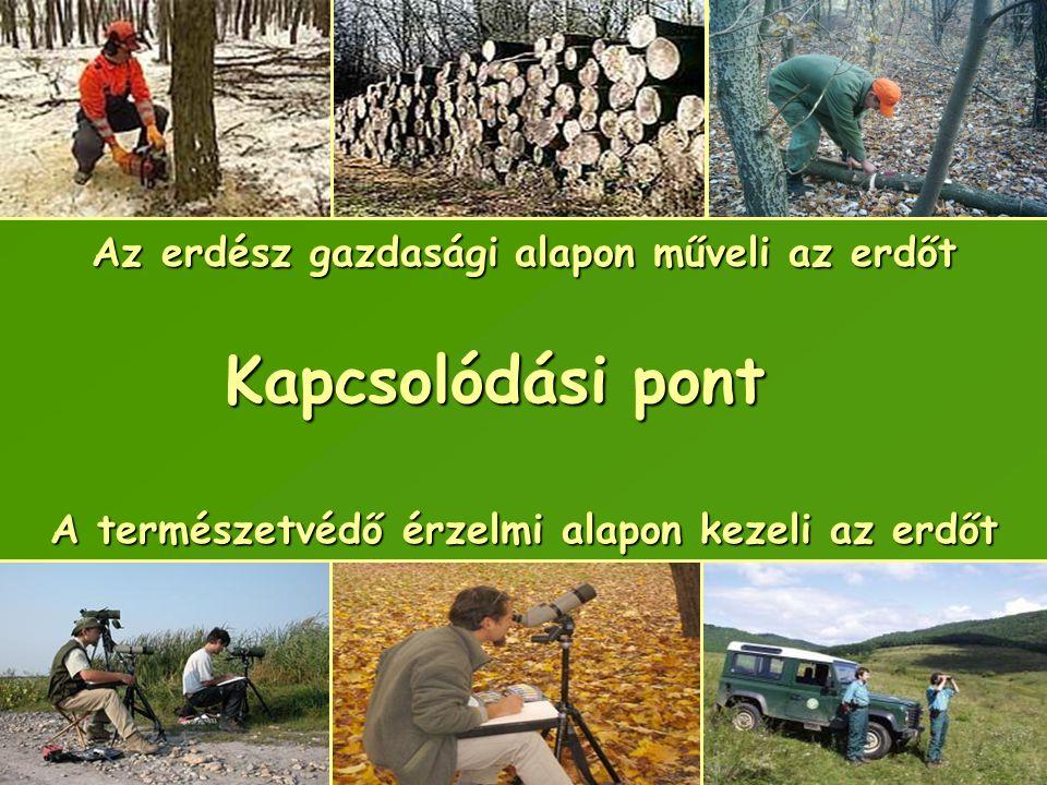 Kapcsolódási pont Az erdész gazdasági alapon műveli az erdőt A természetvédő érzelmi alapon kezeli az erdőt