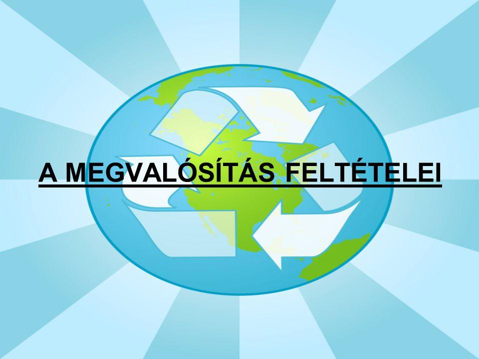 A MEGVALÓSÍTÁS FELTÉTELEI