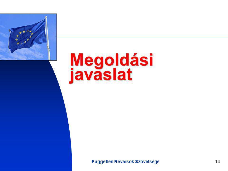 Független Révaisok Szövetsége14 Megoldási javaslat