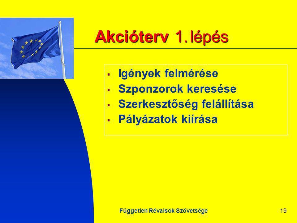 Független Révaisok Szövetsége19 Akcióterv 1.
