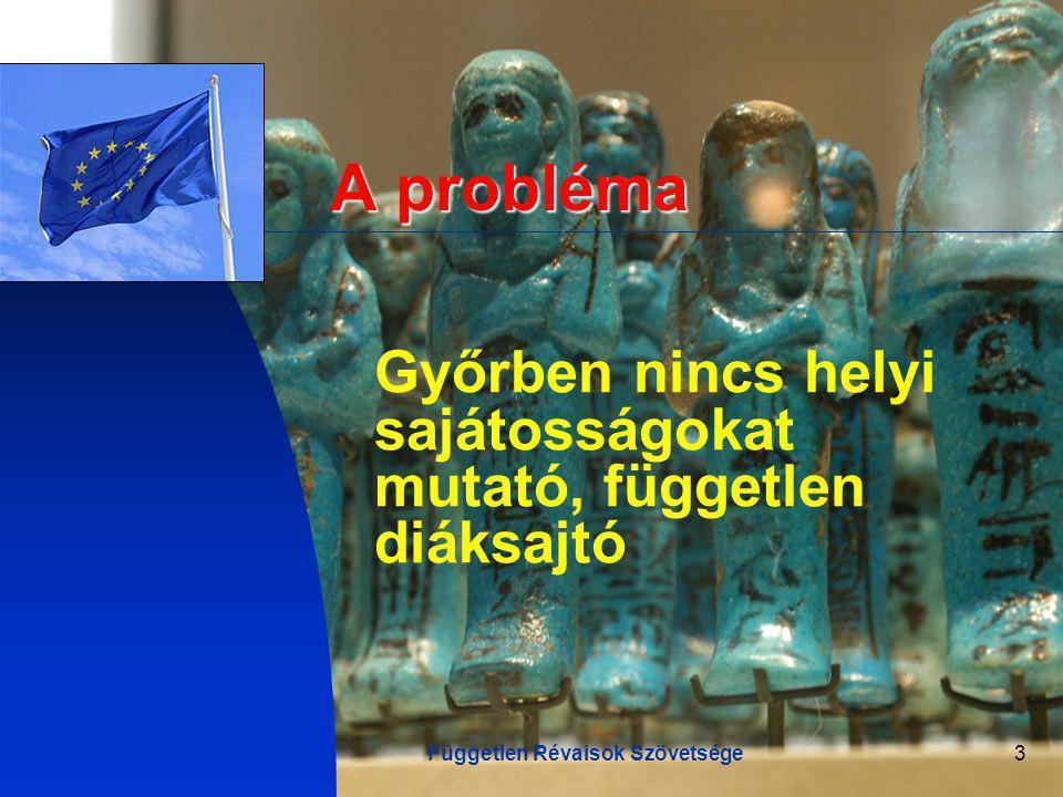 Független Révaisok Szövetsége3 A probléma Győrben nincs helyi sajátosságokat mutató, független diáksajtó