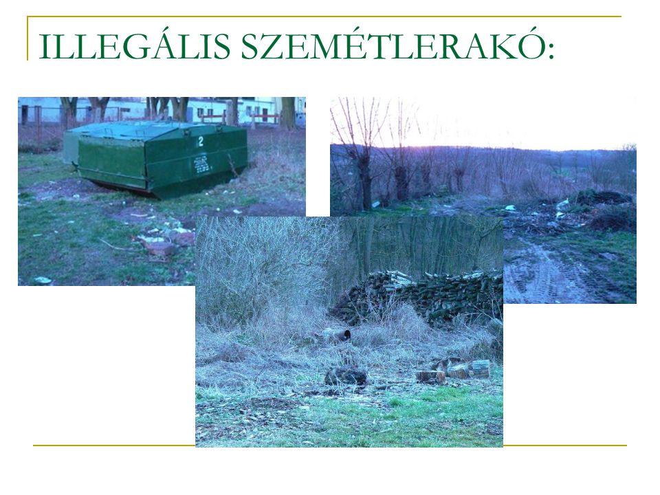 ILLEGÁLIS SZEMÉTLERAKÓ: