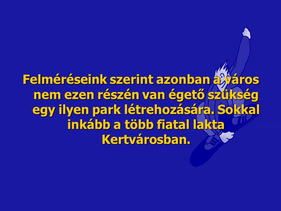 Felméréseink szerint azonban a város nem ezen részén van égető szükség egy ilyen park létrehozására.