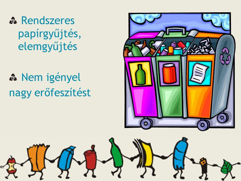 Feladatmegosztás Dolgozók bevonása Begyűjtendő hulladék jellemzői