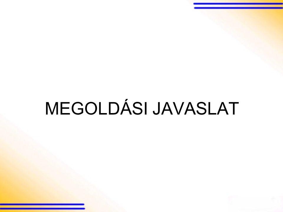 MEGOLDÁSI JAVASLAT