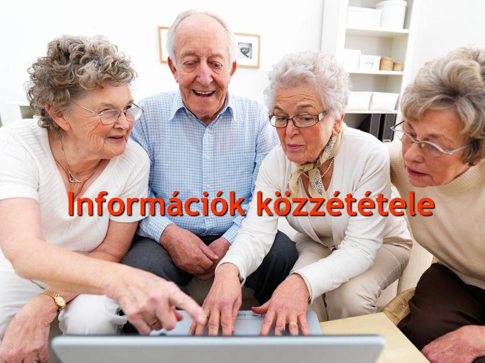Információk közzététele