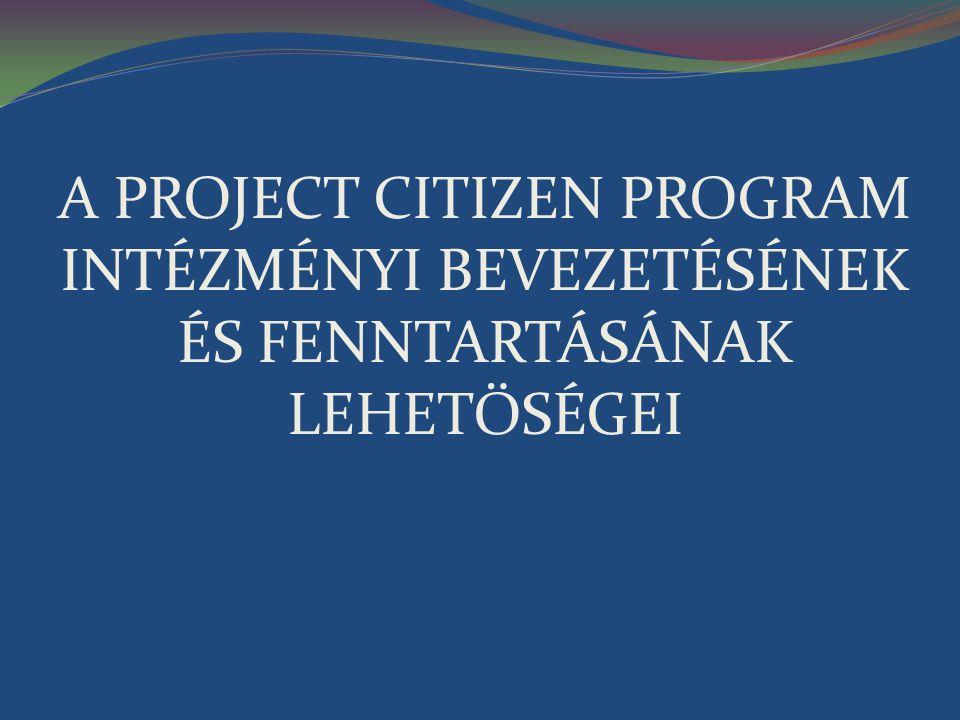 TISZTÁZZUK 1.A Project Citizen és az Önkéntesség kapcsolata Kényszer.
