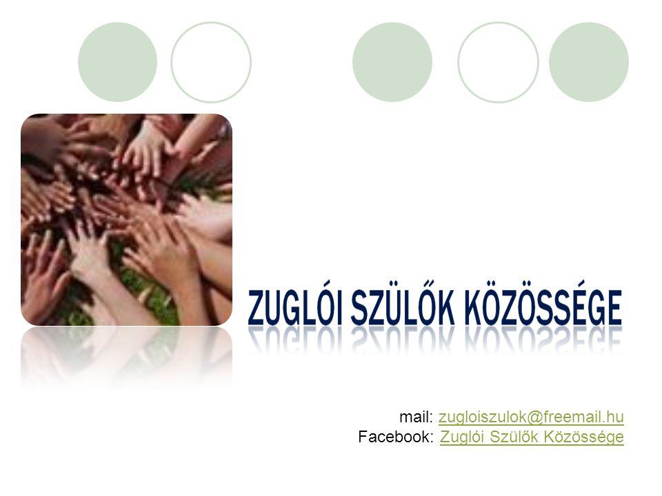 mail: zugloiszulok@freemail.huzugloiszulok@freemail.hu Facebook: Zuglói Szülők KözösségeZuglói Szülők Közössége
