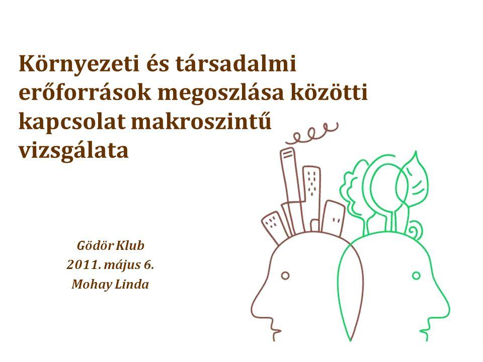 Környezeti és társadalmi erőforrások megoszlása közötti kapcsolat makroszintű vizsgálata Gödör Klub 2011.