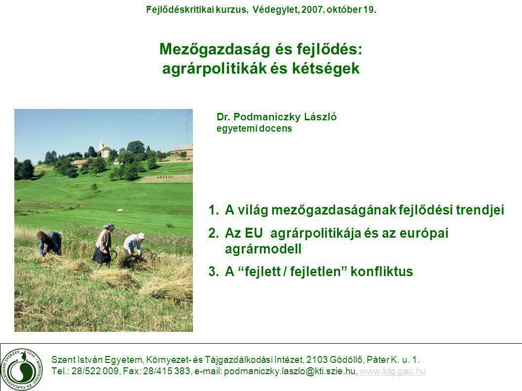 A KAP sajátosságai Az EU agrárpolitikája A KAP nem tekinthető teljes agrárpolitikának, mivel:  nagyrészt piac- és termelésszabályozásról rendelkezik (piacpolitika);  a struktúrapolitikai intézkedések csak a 80-as években kerültek előtérbe és részletes kidolgozásra;  a földbirtokpolitika kérdéskörével nem foglalkozik.