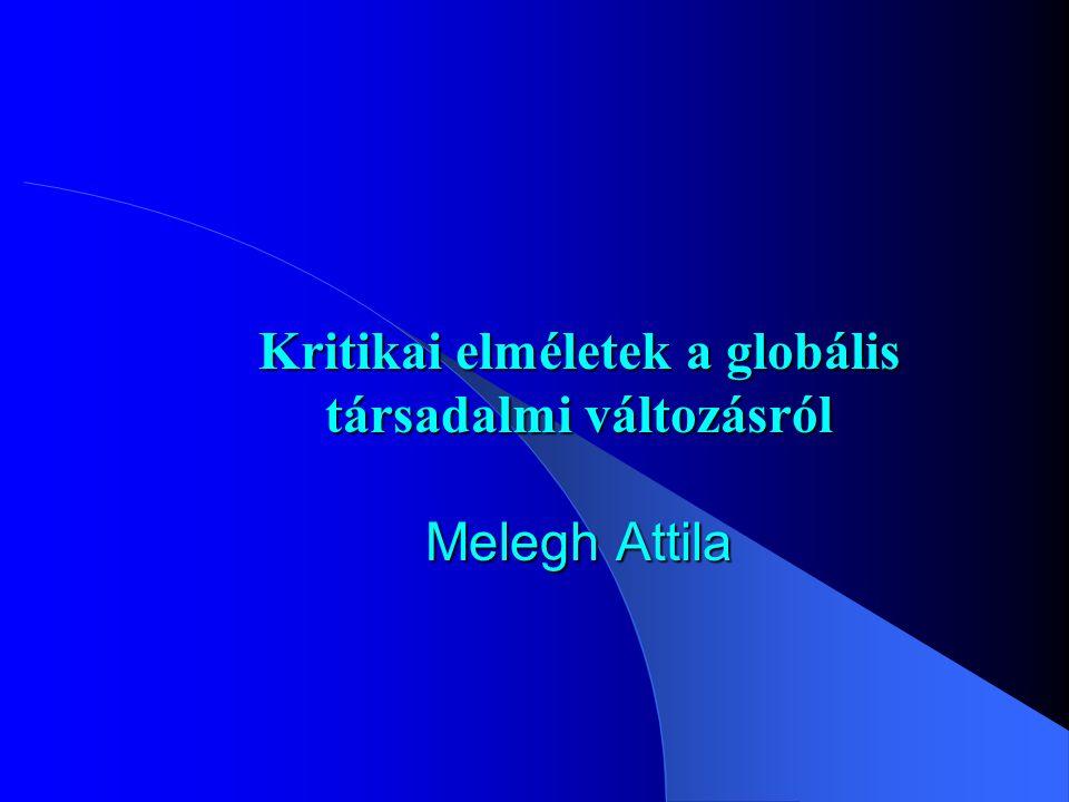 Kritikai elméletek a globális társadalmi változásról Melegh Attila