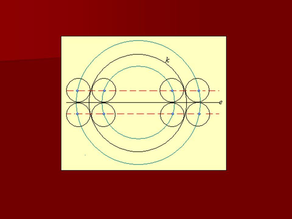 5.feladat Adott egy 4 egység sugarú k kör és egy a középpontján átmenő e egyenes.